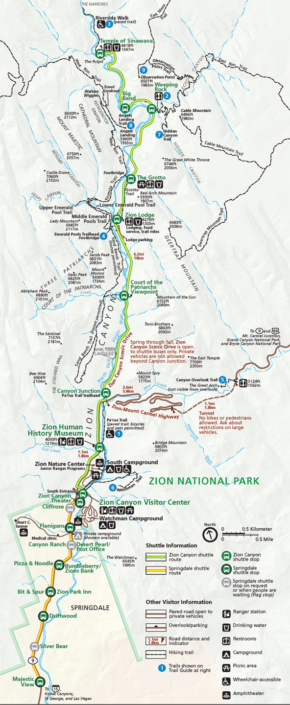 Zion Canyon Shuttle System Zion Canyoneering Guides